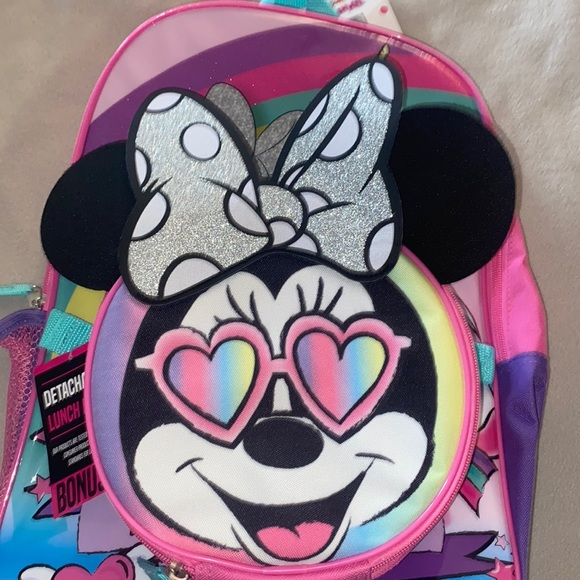Disney Minnie Mouse back pack lunch bag set new